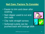 nail care factors to consider