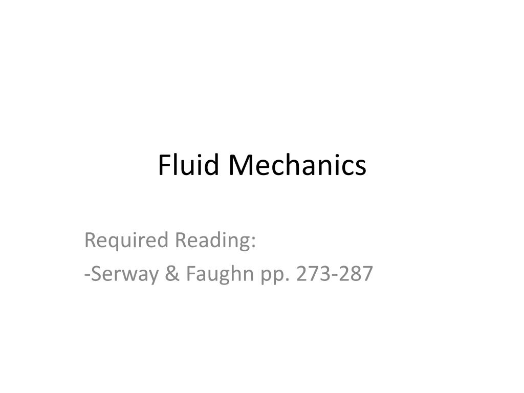 fluid mechanics l.