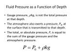 fluid pressure as a function of depth