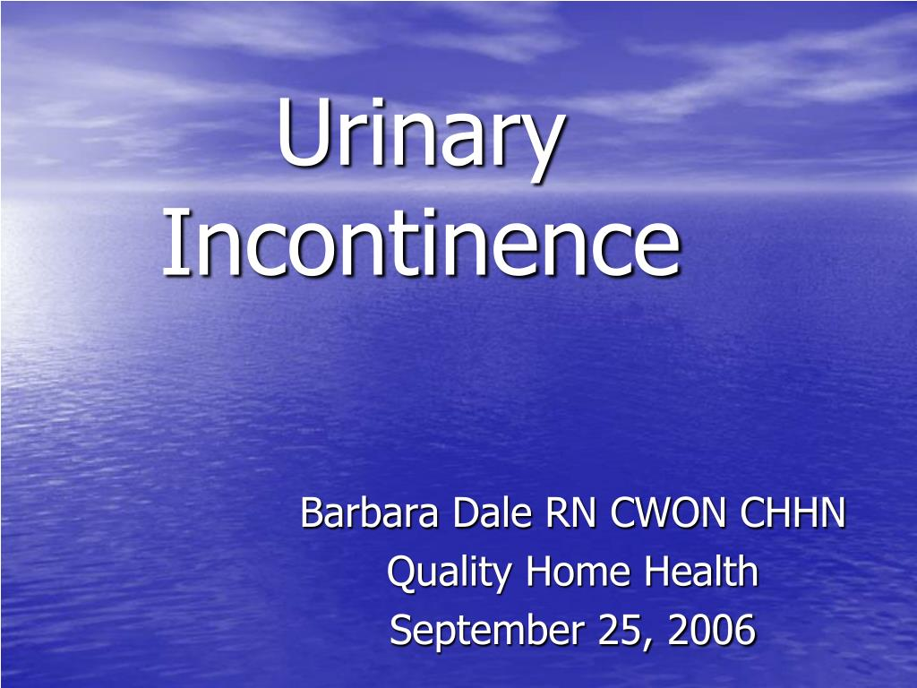 urinary incontinence l.