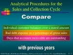 analytical procedures for the sales and collection cycle7