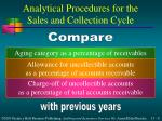 analytical procedures for the sales and collection cycle8