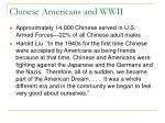chinese americans and wwii