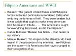 filipino americans and wwii