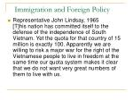 immigration and foreign policy