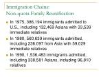 immigration chains non quota family reunification