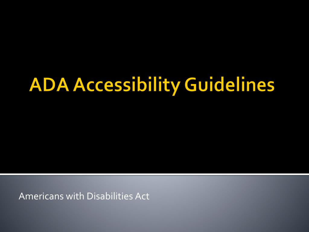 ada accessibility guidelines l.