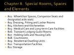chapter 8 special rooms spaces and elements