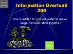 information overload 200