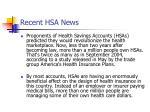 recent hsa news10