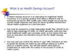 what is an health savings account