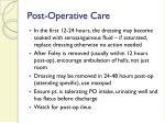 post operative care25