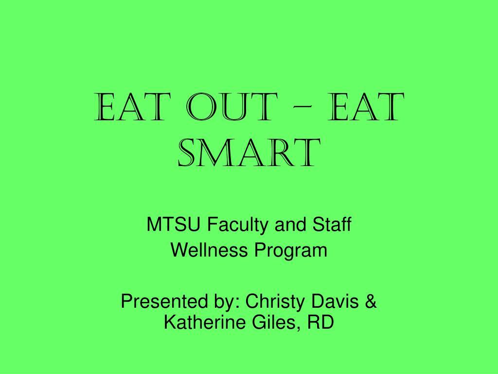 eat out eat smart l.