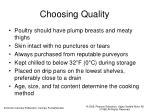 choosing quality