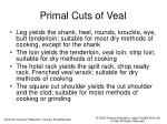 primal cuts of veal