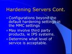 hardening servers cont