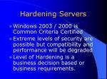 hardening servers
