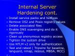 internal server hardening cont30