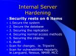 internal server hardening