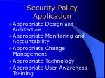 security policy application