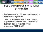 basic principle of international convention