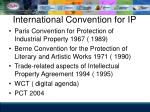 international convention for ip