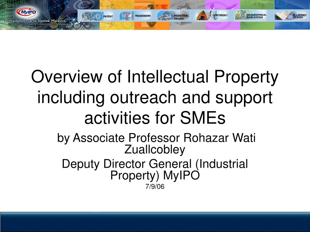 overview of intellectual property including outreach and support activities for smes l.