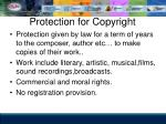 protection for copyright