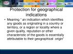 protection for geographical indications