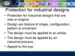 protection for industrial designs