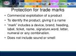 protection for trade marks