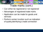 trade marks cont
