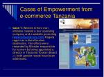 cases of empowerment from e commerce tanzania