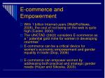 e commerce and empowerment
