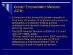 gender empowerment measure gem