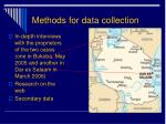 methods for data collection