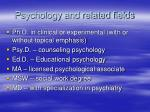 psychology and related fields