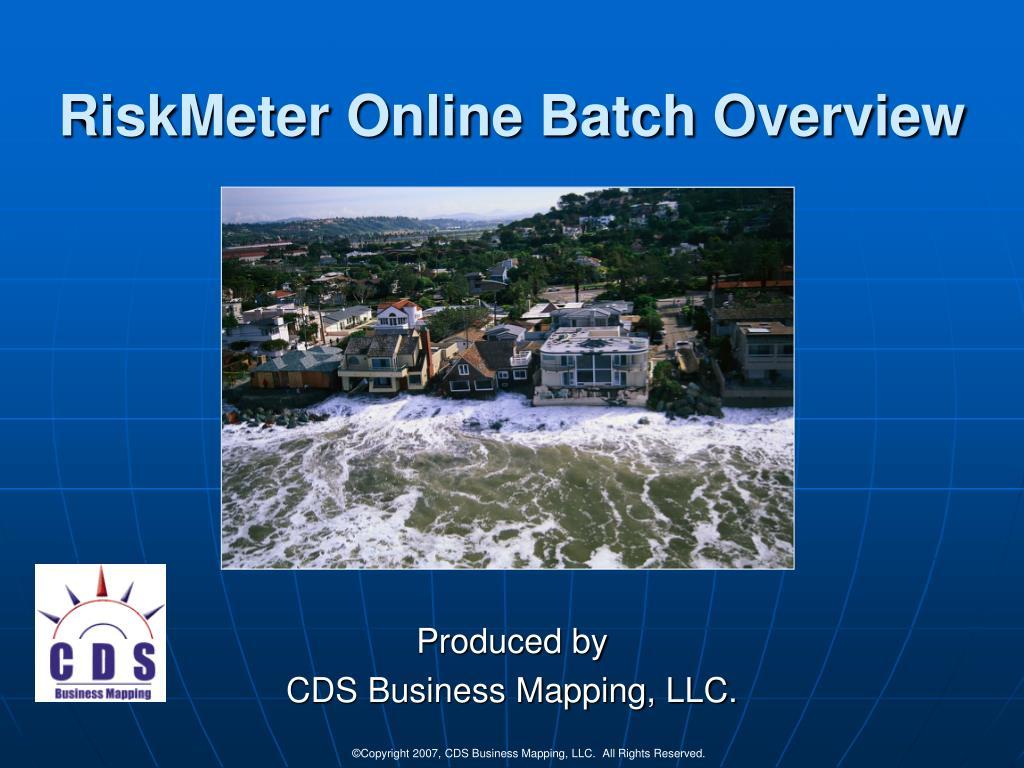 riskmeter online batch overview l.