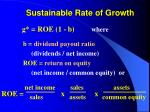sustainable rate of growth34