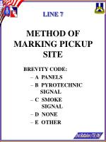 line 7 method of marking pickup site