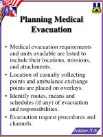 planning medical evacuation