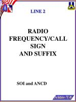 radio frequency call sign and suffix