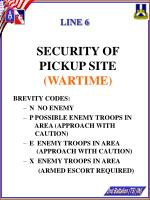 security of pickup site wartime