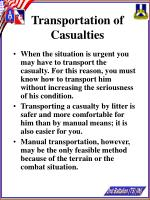 transportation of casualties