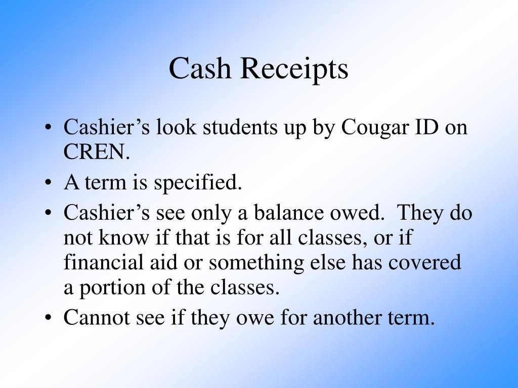 Cash Receipts