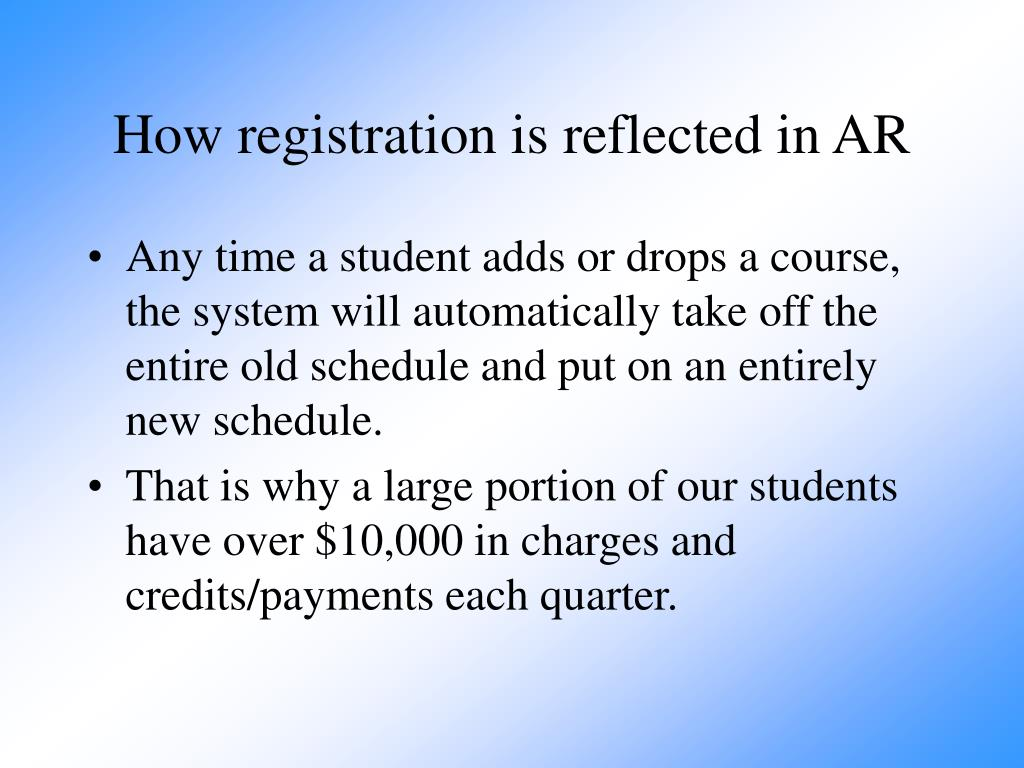 How registration is reflected in AR