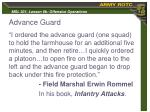 advance guard