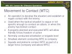 movement to contact mtc