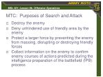 mtc purposes of search and attack