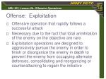 offense exploitation